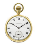 Timepieces:Pocket (post 1900), J.E. Caldwell Gold Openface Pocket Watch, Circa 1908. Case: 48 mm, 18k yellow gold, case No. 92100, stamped: J. E. Caldwel...