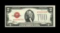 Small Size:Legal Tender Notes, Fr. 1507* $2 1928F Legal Tender Note. Choice Crisp Uncirculated.. This star with two wide and two slender margins has been n...