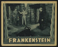"Movie Posters:Horror, Frankenstein (Universal, R-1938). Lobby Card (11"" X 14""). This Universal horror classic from director James Whale scared the..."