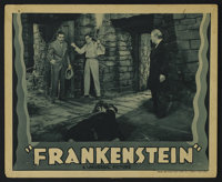 "Frankenstein (Universal, R-1938). Lobby Card (11"" X 14""). This Universal horror classic from director James Wh..."