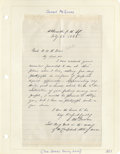 Autographs:Military Figures, Group Lot of Ten Confederate Generals' Autographs consisting of: .William McComb- Autograph card with rank below. . J...