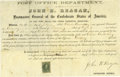 Autographs:Military Figures, Confederate Postmaster General John H. Reagan. This appointment certificate of a postmaster is signed by Confederate Postmas...