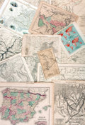 Books:Prints & Leaves, Group of Approximately 30 Maps of Various Countries. Various publishers and dates....