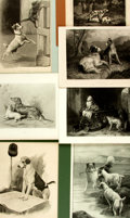 Books:Prints & Leaves, Group of 13 Black and White Plates Depicting Dogs. Variouspublishers and dates....