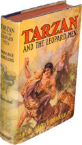 Books:Fiction, Edgar Rice Burroughs. Tarzan and the Leopard Men. Tarzana:Edgar Rice Burroughs, Inc., [1935]. First edition. ...