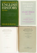 Books:Reference & Bibliography, [Bibliography]. [British History]. Group of Four Books. Variouspublishers and dates.... (Total: 4 Items)