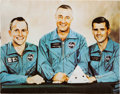 Autographs:Celebrities, Apollo 1 Crew-Signed Large Color Photo. ...