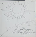 Autographs:Celebrities, Robert McCall Signed Sketch in Book: The Art of RobertMcCall. ...