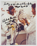 "Autographs:Celebrities, Richard Gordon Signed Apollo 12 ""Suiting Up"" Color Photo. ..."