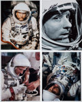 Autographs:Celebrities, Tom Stafford Signed Gemini-Related Photos (Four).... (Total: 4Items)