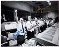 Autographs:Celebrities, Apollo 13 Mission Control Photo Signed by Three MissionControllers: Griffin, Kranz, and Lunney....