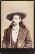 "Photography:Studio Portraits, James B. ""Wild Bill"" Hickok: A Stunning Virtually Mint Rockwood Cabinet Photo...."