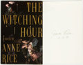 Books:Horror & Supernatural, Anne Rice. INSCRIBED. The Witching Hour. New York: Alfred A.Knopf, 1990. . ...