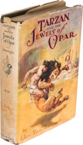 Books:Fiction, Edgar Rice Burroughs. Tarzan and the Jewels of Opar. Chicago: A. C. McClurg & Co., [1918]. First edition. Octavo...
