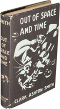 Books:Horror & Supernatural, Clark Ashton Smith. Out of Space and Time. Sauk City: ArkhamHouse, 1942. First edition. The third book published ...