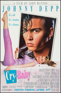"Cry-Baby & Other Lot (Universal, 1990). One Sheets (39) (26.5"" X 39.75"" & 29.5"" X 45.25) Advance..."