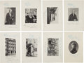 Autographs:Celebrities, George Francis Train: Group of Eight Photogravures....