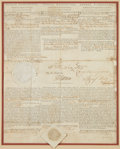 Autographs:U.S. Presidents, George Washington and Thomas Jefferson Three Language Ship's PapersSigned...