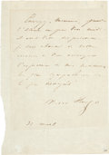 Autographs:Non-American, Victor Hugo Autograph Letter Signed. ... (Total: 2 Items)