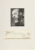 Autographs:Artists, Aaron Copland Autograph Musical Quotation Signed....