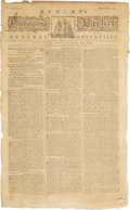 Miscellaneous:Newspaper, [John Dunlap] and [Benjamin Franklin]. Newspaper: Dunlap'sPennsylvania Packet or the General Advertiser....