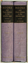 Books:Books about Books, Geo. Haven Putnam. Books and Their Makers in the Middle Ages. New York: Hillary House Publishers LTD, [1962].... (Total: 2 Items)