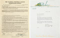 Football Collectibles:Others, 1942 Curly Lambeau Signed Player's Contract (John Stonebraker) and Letter....