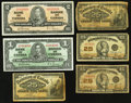 Canadian Currency: , An Assortment of a Half Dozen Canadian Notes.. ... (Total: 6 notes)