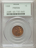 Proof Indian Cents: , 1899 1C PR65 Red and Brown PCGS. PCGS Population (66/47). NGC Census: (66/23). Mintage: 2,031. Numismedia Wsl. Price for pr...
