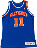 Basketball Collectibles:Uniforms, 1991-92 Terrell Brandon Game Worn Cleveland Cavaliers Jersey. ...