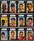 Baseball Cards:Lots, 1953 and 1954 Topps Shoe Box Collection (206). ...