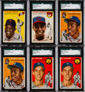 Baseball Cards:Lots, 1954 Topps Baseball Collection (660) With Multiple Aaron, Banks andKaline Rookies. ...