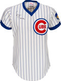 Baseball Collectibles:Uniforms, 1974 Ernie Banks Game Worn Chicago Cubs Coach's Jersey....