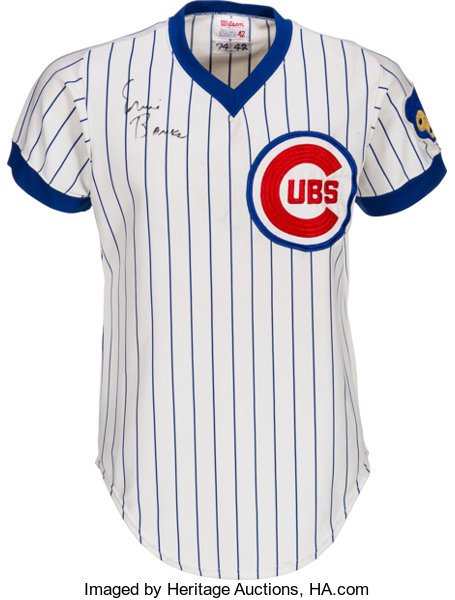 cheap for discount 110ab c27a5 1974 Ernie Banks Game Worn Chicago Cubs Coach's Jersey ...