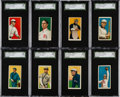 Baseball Cards:Lots, 1909-11 T206 Sweet Caporal SGC 80 EX/NM 6 Collection (8). ...