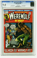 Bronze Age (1970-1979):Horror, Werewolf by Night #1 (Marvel, 1972) CGC VF/NM 9.0 White pages. MikePloog cover and art. Overstreet 2005 VF/NM 9.0 value = $...