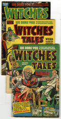 Golden Age (1938-1955):Horror, Witches Tales #1, 4, and 11 Group (Harvey, 1951-52) Condition:Average FR/GD. This lot of three Witches Tales books incl...(Total: 3)