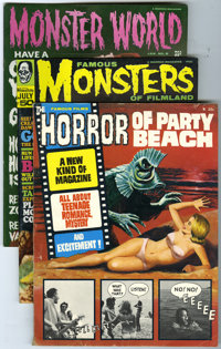 Monster World and Famous Monsters Group (Warren, 1964-69) Condition: Average VG/FN. a monster-sized group which features...