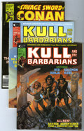 Magazines:Miscellaneous, Savage Sword of Conan/Kull and the Barbarians Group (Marvel,1975-78) Condition: Average VF+. Group of five magazines contai...(Total: 5 Comic Books)