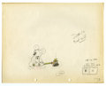 "Original Comic Art:Miscellaneous, Walt Disney Studios - ""Mickey's Service Station"" AnimationProduction Drawing Original Art (Disney, 1935). Mickey, Donald,a..."