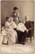Photography:Cabinet Photos, Benjamin Harrison Family Cabinet Card...