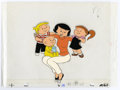 Original Comic Art:Miscellaneous, The Family Circus Animation Production Cel and Drawing Original Art(undated). This original hand painted production cel fea... (Total:2 Items)