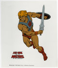 Original Comic Art:Miscellaneous, He-Man Animation Cel Original Art (Filmation, 1983). The defenderof the kingdom of Eternia, raises his sword to do battle, ...
