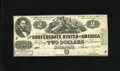 Confederate Notes:1862 Issues, T42 $2 1862. This Third Series Fine-Very Fine Deuce is withoutpinholes or edge tears....