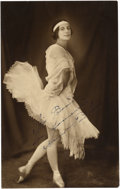 Autographs:Artists, Dancer Anna Povlava Signed Photograph...