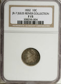 Bust Dimes, 1832 10C F15 NGC. Ex: Jules Reiver Collection. NGC Census: (1/223).PCGS Population (0/240). Mintage: 522,500. Numismedia ...