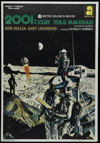 """2001: A Space Odyssey (MGM, 1968). Turkish One Sheet (27.5"""" X 39.5""""). Science Fiction. Directed by Stanley Kub..."""