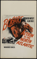"Movie Posters:War, Action in the North Atlantic (Warner Brothers, 1943). Window Card(14"" X 22""). War. Directed by Lloyd Bacon. Starring Humphr..."