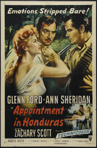 """Appointment in Honduras (RKO, 1953). One Sheet (27"""" X 41""""). Adventure. Directed by Jacques Torrneur. Starring..."""
