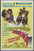 "Movie Posters:Western, Arena (MGM, 1953). One Sheet (27"" X 41""). Western. Directed by Richard Fleischer. Starring Gig Young, Jean Hagen, Polly Berg..."